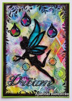 Ajascha´s Bastelecke : I have a Dream... using Designs by Ryn: Raindrop Set (stamps)
