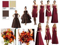 Claret palette   Wedding Colours :) : PANTONE WEDDING Styleboard : The Dessy Group