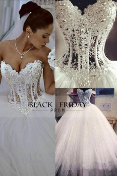 2015 Gorgeous Wedding Dresses A-Line Sweetheart See Through Floor-Length Tulle With Pearls Lace Up