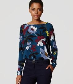 Primary Image of Blossom Tab Sleeve Blouse