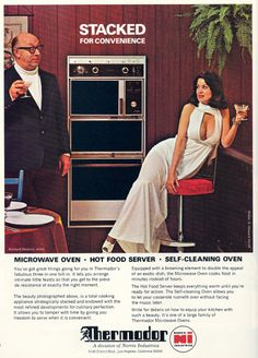 "Copy reads, in part:  ""The beauty photographed above is a total cooking appliance strategically stacked and endowed with the most refined developments..."""
