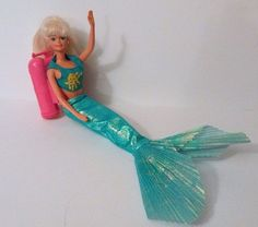 Vintage Mermaid Barbie Doll Marked 1966 with Battery Pack Tanks http://www.medusamaire.com/my-ebay-items/ to see all of my items for sale!