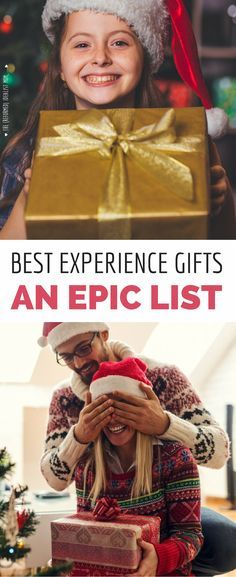 These presents will make you everyone's favorite person! This is a MASSIVE list of the best experience gift ideas for everyone on your Christmas list, from gift ideas for kids to gifts for him - and lots more. Great ideas for birthdays and anniversary gif Creative Gifts, Unique Gifts, Best Gifts, Fun Gifts, Surprise Gifts, Creative Ideas, Konmari, Diy Gifts For Him, Gifts For Kids