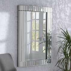 Silver Rectangular Wall x - available to buy online or at Choice Furniture Superstore UK on stockist sale price. Get volume - discount with fast and Free Delivery. Mantle Mirror, Mirror Room, Art Deco Mirror, Living Room Mirrors, Freestanding Mirrors, Glass Mirrors, Large Mirrors, Wall Mirrors, Venetian Mirrors