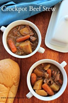 Paired with a nice homemade bread, this Crockpot Beef Stew recipe can be a completely filling and a hearty meal.
