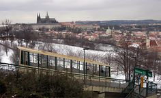 Funicular to the Petrin Hill - Prague Pictures