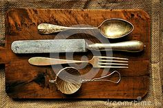 Still Life Image With Old Spoon, Knife , Fork And Strainer - Download From Over 30 Million High Quality Stock Photos, Images, Vectors. Sign up for FREE today. Image: 50084850