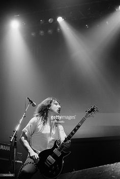 Guitarist Mick Box from English rock band Uriah Heep performs live on stage in London in February 1980.