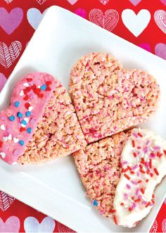 Rice Krispies Treats® are a fun and easy snack you can make with the kids for any occasion. For Valentine's Day, try dipping each heart-shaped dessert in icing and adding on some red and pink sprinkles.