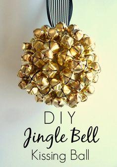 DIY Jingle Bell Kissing Ball