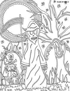 Halloween Coloring Sheet - Grim Reaper