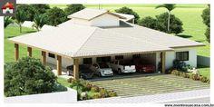 Garagem ampla casa