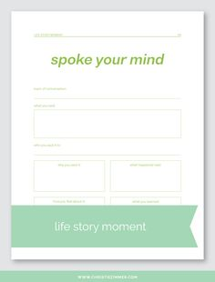 Life Story Moments - Printable Guided Journal Pages — Christie Zimmer Journal Prompts, Journal Pages, Writing Prompts, E Learning, Lerntyp Test, Mental Health Counseling, Tips & Tricks, Coaching, Bullet Journal Inspiration