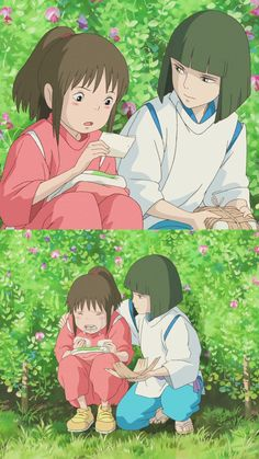 한번 만난 인연은 잊혀지는 것이 아니라 잊고 있을 뿐이야. 센과 치히로의 행방불명 배경화면 (몇번을 돌려... Studio Ghibli Art, Studio Ghibli Movies, Totoro, Studio Ghibli Background, Chihiro Y Haku, Anime Manga, Anime Art, Studio Ghibli Spirited Away, Films Cinema