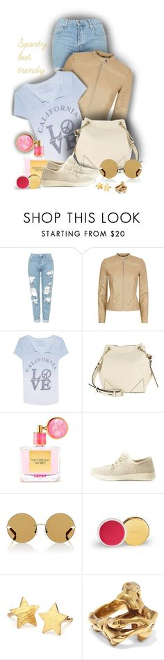 """""""Sporty, but trendy - Contest!!!"""" by sarahguo ❤ liked on Polyvore featuring Topshop, Escada Sport, True Religion, Karl Lagerfeld, Victoria's Secret, Wild Diva, Karen Walker, Pernille Corydon and Tom Ford"""