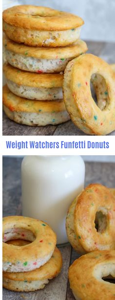 Weight Watchers Funfetti Donuts #Weight watchers#Donuts#Appetizer#Snack