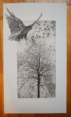 From flight an original hand pulled etching with by philippaJones