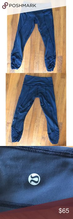 lululemon athletica cropped navy blue leggings have only been worn a few times!! Willing to counter offer. lululemon athletica Pants Leggings