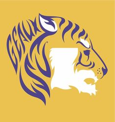 "This ""Bayou Bengal"" proudly represents Louisiana State University."