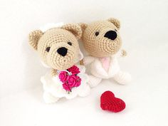 Bride and Groom Cute Bear Wedding Crochet  by IvoryTreeHouse