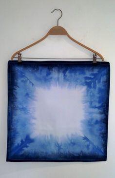 Gorgeous indigo blue dip dye cushion by NobleAndIron, £20.00 on Etsy