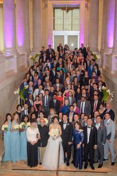 Entire wedding group on the staircase at the Asian Art Museum Asian Art Museum, Bridesmaid Dresses, Wedding Dresses, Marines, Weddings, Group, Party, Fashion, Bridesmade Dresses