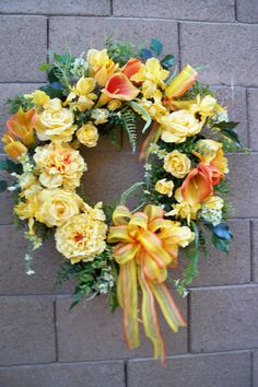 A lovely spring/summer wreath!  :)