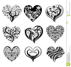 Tattoo Hearts - Download From Over 58 Million High Quality Stock Photos, Images, Vectors. Sign up for FREE today. Image: 14932865