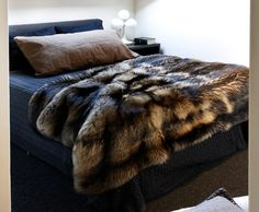Faux fur over bed