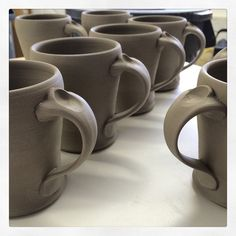 It is refreshing to revisit old ideas. Mugs with a handle design from a few years back. #mugshotmonday