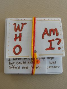 Who Am I? Book -- Can be used at the beginning of the year or for  social studies / research projects