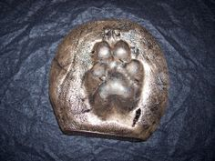 Guide Dogs Paw Print in Resin-metal Bronze Guide Dog, Metal Casting, Dog Paws, Resin, Bronze, Dogs, Photography, Fotografie, Pet Dogs