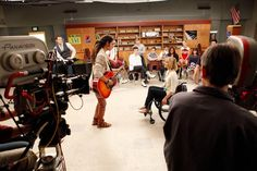 """Behind the scenes photo from the """"Dance With Somebody"""" episode. Original Air Date 4/24/2012"""