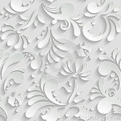 Absztrakt virágos 3d varrat nélküli minta