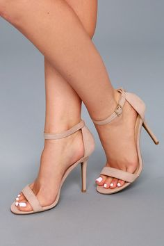 9d36adf83d0 Elsi Nude Single Strap Heels