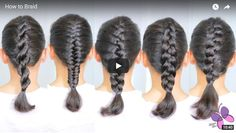 How to Braid Hair: DIY Hairstyles for Every Hair Type - ArtsyCraftsyDad Braids Step By Step, Hair Upstyles, Hair Braider, Braided Updo, Hair Videos, Hair Designs, Hair Type, Hair Hacks, Braided Hairstyles