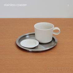 yumiko iihoshi porcelain (イイホシユミコ) stainless コースター