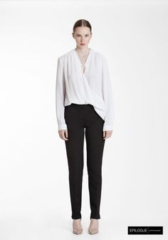 5 Epilogue by Eva Emanuelsen SS14 liseron wrap blouse one trouser