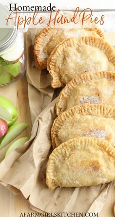 Apple Hand Pies are made with homemade apple pie filling inside golden flaky pie crust or refrigerated biscuit dough. I've recreated Grandma's recipe with these delicious Hand Pies. #applepie #applehandpies #Southernrecipes #applejacks #piecrustrecipes #pierecipes #apples Fried Hand Pies, Fried Apple Pies, Pecan Pies, Homemade Apple Pie Filling, Homemade Pie Crusts, Homemade Recipe, Homemade Pies, Apple Hand Pies, Cast Iron Recipes