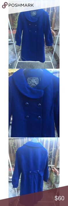 Guess Wool Jacket Blue guess jacket | Size: Small Guess Jackets & Coats Pea Coats