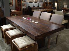 Table à diner Anand en bois de rose