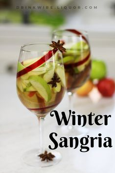 Think you can't enjoy Sangria in the winter? Warm baking spices, hearty bourbon, and apple brandy swirl together for a holiday take on a summer standard. Think of it as punch's super sassy sister. Same theory, different flavors! Punches are awesome ways to put some hardcore TLC into a cocktail, without stressing too much about ounces and shakers. Brandy Cocktails, Craft Cocktails, Easy Cocktails, Wine Cocktails, Cocktail Recipes, Winter Sangria, Christmas Cocktails, Holiday Drinks, Holiday Foods