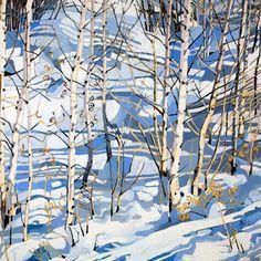 "Jennifer Irvine, Winter Sunshine, Meribel, 30"" x 30"", limited edition print"