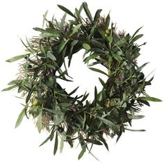 The olive tree is a symbol of peace -- the perfect welcome message for your holiday front door. #holiday #christmas