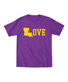 This Purple 'Love' Louisiana Tee - Toddler & Kids by KidTeeZ is perfect! #zulilyfinds