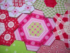 more fussy hexies!