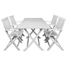 Garden Furniture set Sydney white acacia wood garden table and chairs balcony | eBay