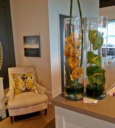 Corporate floral arrangement for a furniture and design store.   www.convallaria.com