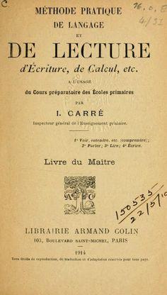 Manuels anciens: Irénée Carré, Méthode pratique de langage (livre du maître)