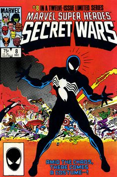 Marvel Super Heroes Secret Wars by Mike Zeck. Spider-Man gets the blackcostume which later becomes Venom